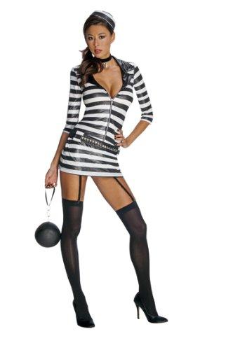 Damen Kostüm sexy Sträfling Sträflingskostüm Gr.M (Sträfling Halloween Kostüme Sexy)