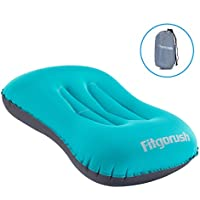 Fitgorush Almohada Inflable de Viaje Camping Soporta Cuello Cintura Almohada Hinchable con Válvula Cómodo Ergonómico para Dormir en Oficina Coche Ultraligera