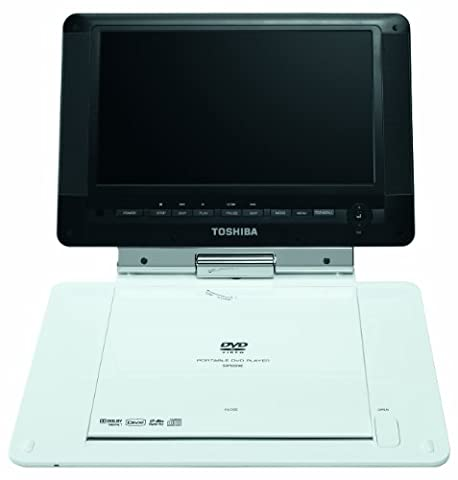 Toshiba SDP94DT 9-inch Widescreen Digital Portable DVD Player with Digital TV Tuner- White