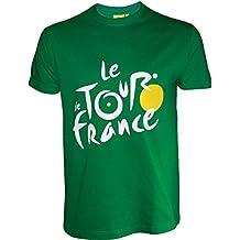 Le Tour de France -Camiseta oficialdel Tour de Francia, talla de adulto, para hombre, Le Tour de France, color verde, tamaño XL