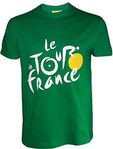 Le Tour de France -Camiseta oficialdel Tour de Francia, talla de adulto, para hombre, Le Tour de France, color verde, tamaño small
