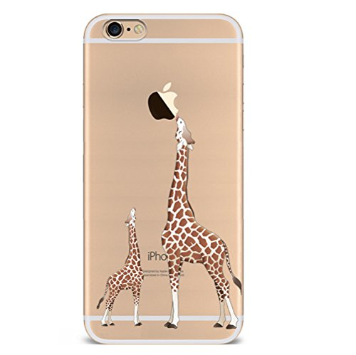 Iphone 6s 6 Hülle Giraffe Einhorn Elefanten Art Karikatur Silikon TPU Schutzhülle Ultradünnen Case Schutz Hülle für iPhone 6/6s cjl1-1
