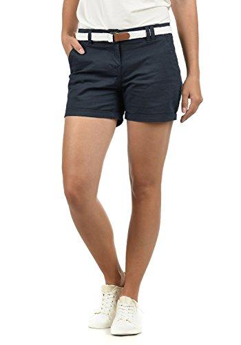 DESIRES Chanett Damen Chino Shorts Bermuda Kurze Hose mit Gürtel Stretch, Größe:40, Farbe:Insignia Blue (1991)