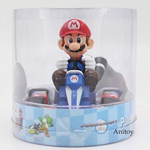 Yvonnezhang Super Mario Bros Wii Mario Kart Figur Luiji Pfirsich Bowser Kröte Esel Kong Yoshi Pull Back Racers Auto Spielzeug 7 Styles 8cm, Mario
