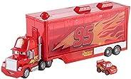 Mattel Disney Cars FLG70 Disney Cars Mack Transporter (inklusive 1 Mini Racer Lightning McQueen), flerfärgad