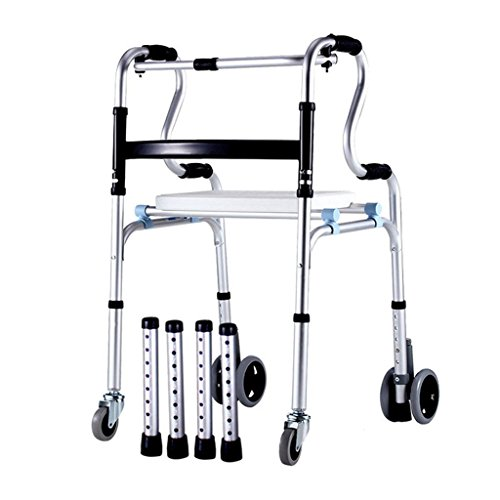 Walker alluminio anziani disabili con cintura puleggia più spesso possono
