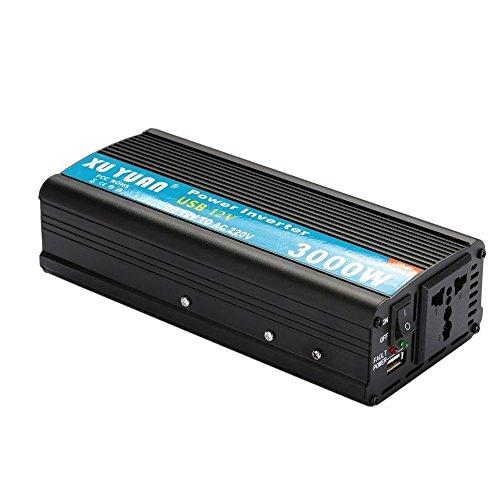 gie-Inverter / Auto-Energie-Inverter 3000W 12V DC zu 220V / Wechselstrom-Konverter / mit USB-Batterie / Ladegerät Energien-Bank / für Notfall ()