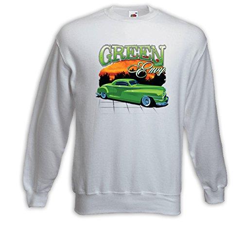 Hot Rod Pullover Green Envy weiß Vintage Rockabilly USA V8 Weiß