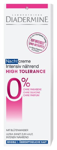 Diadermine High Tolerance Ultra-Feuchtigkeit Nachtcreme, 3er Pack (3 x 50 ml)