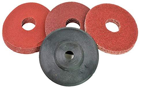 Klettscheibe Schleifscheiben SET passend für Akku Winkelschleifer 10,8V 12V Bosch GWS Gerner BTI Würth