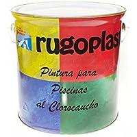 Pintura Piscinas al Clorocaucho Azul / Blanco (5Kg, Blanco H 24) Envío GRATIS 24h.