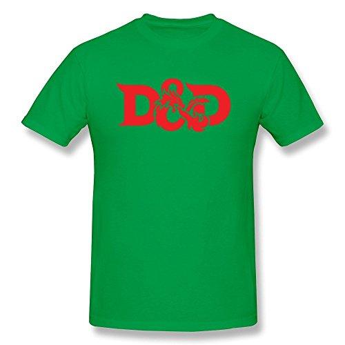 Homme's Dungeons And Dragons D&D Logo 100% Cotton T-shirt X-Large par