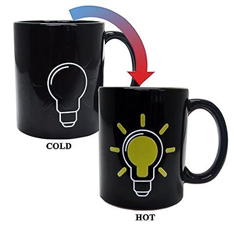 Giftgarden Mugs Tasse Magique Change de Couleur en Fonction de la Température du Liquide Tasse (Personalizzati Tazza Di Caffè)