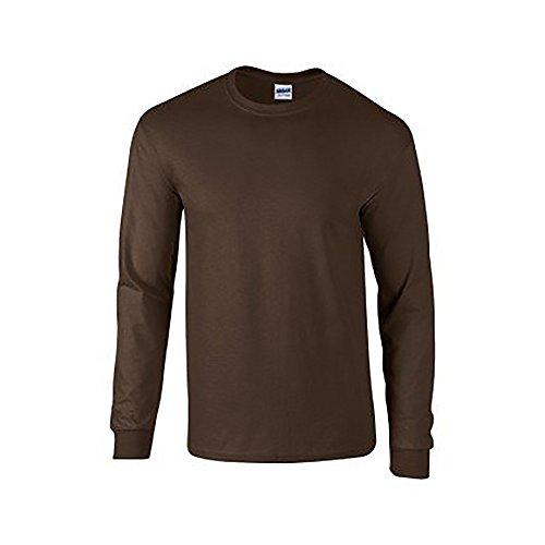 GILDAN Soft Style L/Sleeve T-Shirt, Maglietta Uomo Verde foresta