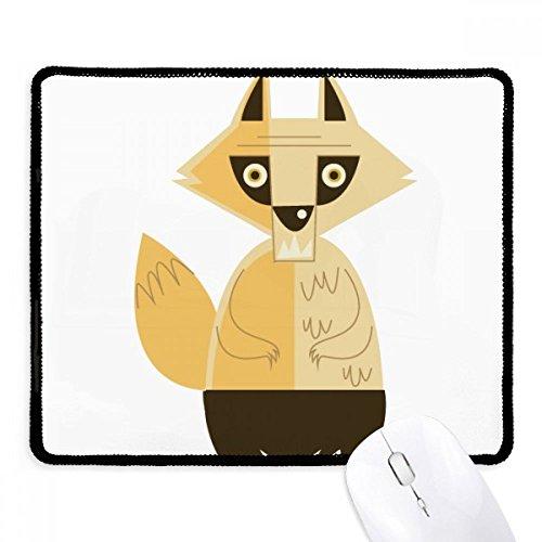 DIYthinker Fox Angst Halloween-Geist-glückliche Griffige Mousepad Spiel Büro Schwarz Titched Kanten Geschenk