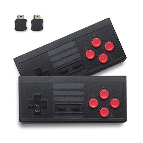 Wireless NES Classic Controller, Novpeak 2,4 G, kein Verkabeltes Gamepad Joypad mit Empfänger für NES Classic Gaming-System-Konsole, 2 Stück (Gaming-konsolen-system)