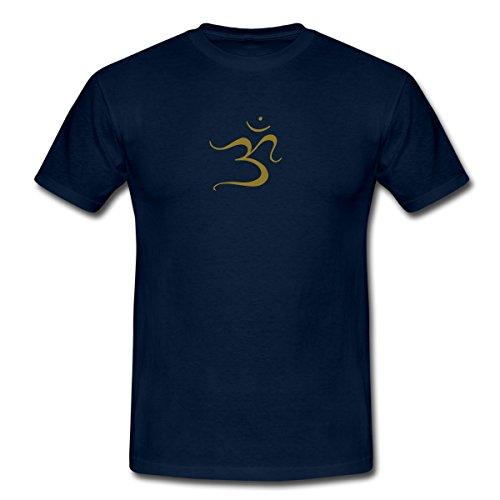 Spreadshirt Om Ohm Omm Om Namah Shivaya Aum Männer T-Shirt, L, Navy