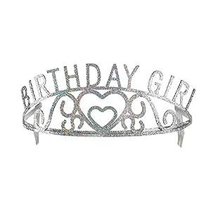 WIDMANN 03346 Tiara Birthday Girl, Niña, Plata