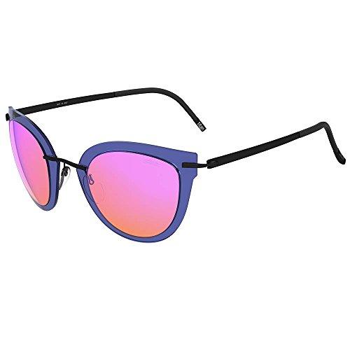 Schwarzkopf Sonnenbrillen Silhouette EXPLORER LINE EXTENSION 8155 BLUE/PINK MIRROR Damenbrillen