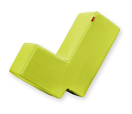 Lümmel Polsterhocker zum Sitzen, Spielen und Rumtoben - Loungemöbel & Spielmöbel für Kinder und Erwachsene - hellgrün