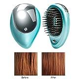 Comtervi Brosse à Cheveux ionique électrique portative, Brosse à Cheveux électrique ionique, Mini Brosse ionique pour Cheveux, Peigne de Massage magnétique à Vibration