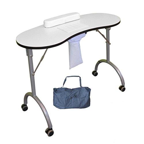 Table pliante, comprend un aspirateur et un repose-poignet noir (adapté pour la manucure, la...
