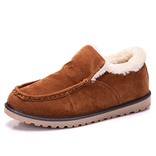 Paragon Hommes Confort Cuir Mocassins Fourrées Chaussures de Conduite Plates Chaussures de Ville Loafers 01 Jaune