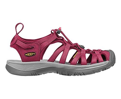 KEEN Whisper Damen Walking Sandalen, Purple, 39.5 - Purple Multi Schuhe