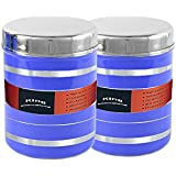[Sponsored]King International Stainless Steel Food Storage Containers, Storage Box ,Blue Multipurpose Storage Box,Container Set Of 2 Pieces, 13 Cm, 1000 Ml