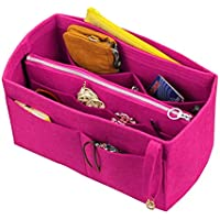 [Passt Neverfull MM / Speedy 30, Pivoine] Filz-Organizer (mit abnehmbaren mittleren Zipper Bag), Tasche in Tasche, Wolle Geldbörse einfügen, individuelle Tote organisieren, Kosmetik Make-up Windel Handtasche