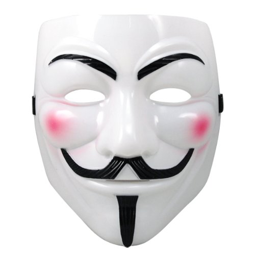 Weiß V für Vendetta Anonymous Guy Fawkes Halloween Maske Fancy Kleid Cosplay (V For Vendetta Kit)