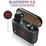TWS Wireless Earbuds Build-in Mic, Bluetooth 5.0 HD Stereo In-Ear Mini Headphones for Sport Auto Pairing Earpieces with Portable Charging Case for iPhone iPad Samsung IOS Android Smartphone Headset