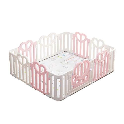 CHULQY Baby-Laufgitter Zaun Laufgitter Spielbett Spielplatz Sicherheit RüStung Zaun 12 Panel - Stil Kinder Panel-bett