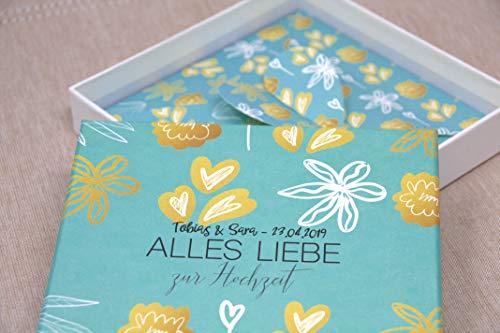 hzeit - Verpackung für Geld zur Hochzeit Geld schenken PERSONALISIERT Garden Party Joy ()