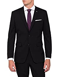 Menjestic Men's Formal+Party Wear Black Blazer