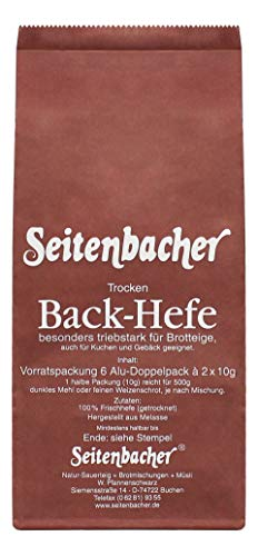 Seitenbacher Hefe Vorratspack, 120 g