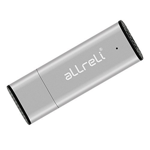 aLLreLi CP0341 2-in-1 8GB Mini USB Voice Recorder [Silver] - Portable Rechargeable Digital Spy Dictaphone & USB 2.0 Flash Drive for Recording Interviews, Meetings and Students Learning  available at amazon for Rs.2099