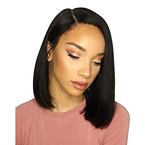 Zolimx Glueless Bob Perücke Brasilianische Gerade Kurze Keine Spitze Haarperücken Für Schwarze Frauen