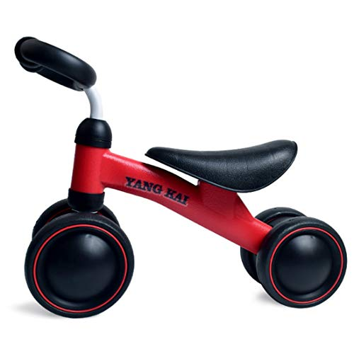 YVSoo Kinder Laufrad Laufräder Fahrrad Kinderfahrräder Dreirad Baby Rutscher Spielzeug- Baby Balance Bike (Rot)