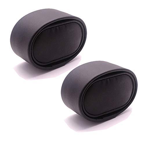 FANSONG PU Leder Kissen für Uhrenbeweger/Schmuck Organizer/Uhr Display Box Fall Kissen (7 x 3,5 x 4 cm), Packung von 2 (Schwarz-Harte) -