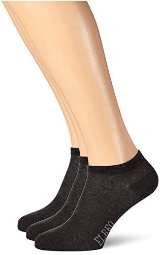 ELBEO Herren Sneakersocken 906609, 3er Pack, Gr. 39/42, Schwarz (schwarz 9500) (Farbe 9500)