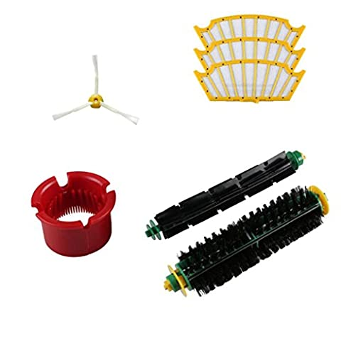 Lacaca Accessory for Irobot Roomba 500 500 564 52708 56708 Series Vacuum Cleaner Replacement Part Kits-Includes 1Pack Side Brushes,1pair Roller, 3Pack Filter,1Pack Cleaning Tool