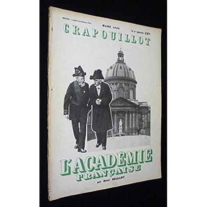 Le Crapouillot (mars 1939) : L'Académie française