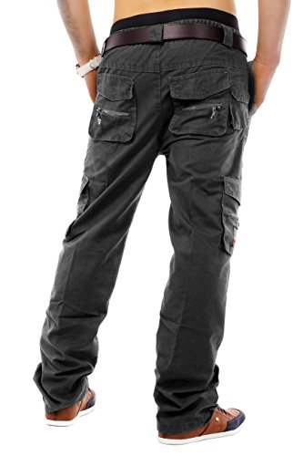 Herren Cargo Hose Master Builder ID 1230 Straight Fit (various colors) Dunkelgrau