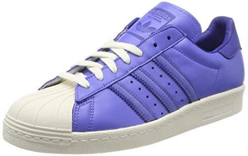 adidas Superstar 80S, Scarpe da Ginnastica Uomo, Viola Real Lilac/Active Blue/off White, 41 1/3 EU