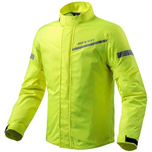 REV\'IT! CYCLONE 2 H2O Motorrad Regenjacke - neon gelb Größe L