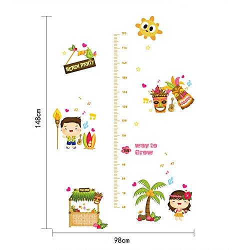 yuiopmo15 Messlatte Aufkleber Cartoon Tiere Wandaufkleber Wachstum Diagramm Wandtattoos,HöHe Abnehmbare Wandsticker Wandtattoo Kinderzimmer Baby Diy Dekorativ (Mehrfarbig)
