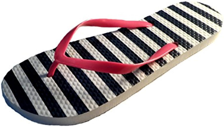 sandrocks mesdames - les filles neon sangle tongs sandales floral blanc - mesdames les pour la marine / taille 3 / 4, 5 / 6 7 / 8 ff88d4