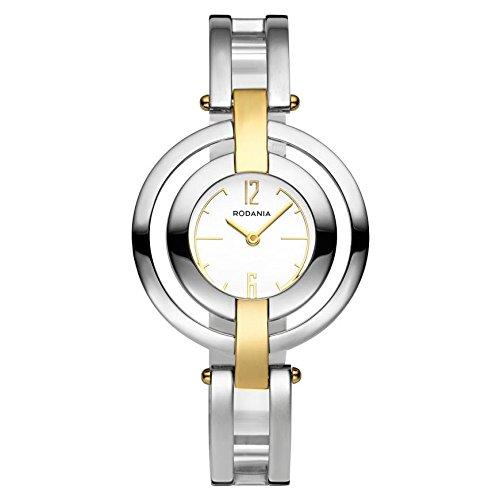 Rodania 24941-80 - Orologio da polso da donna, cinturino in acciaio inox colore argento