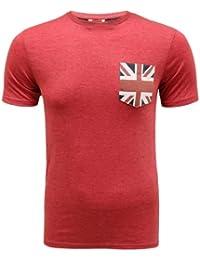 ENVY BOUTIQUE BRAVE SOUL MENS DESIGNER BRITAIN USA FLAG PRINTED UNION JACK SUMMER T-SHIRT TOP